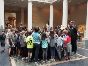 School group at The Met
